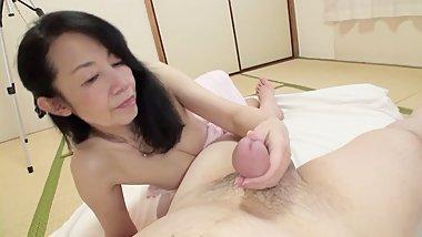 Japanese granny orgasm